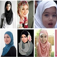New Hijabs or scarfs worn by Muslim ladies to cover heads
