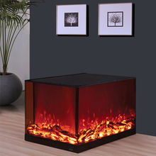 2018 Free Standing Wholesale 3 Sided Electric Fireplace