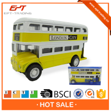 Mini die cast double decker bus model for kids