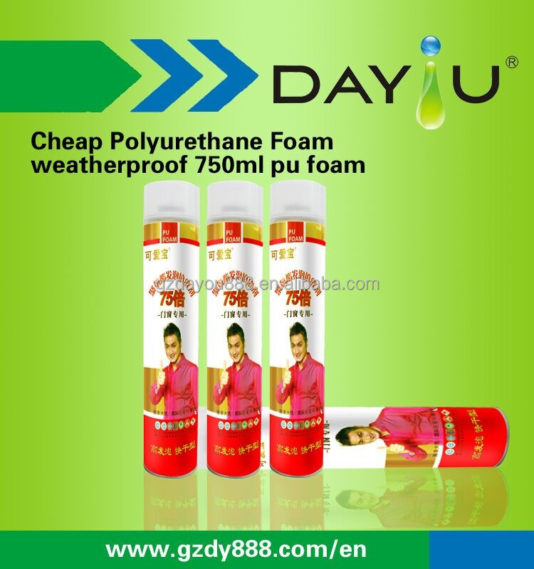 750ml cheap pu foam weatherproof polyurethane sealant