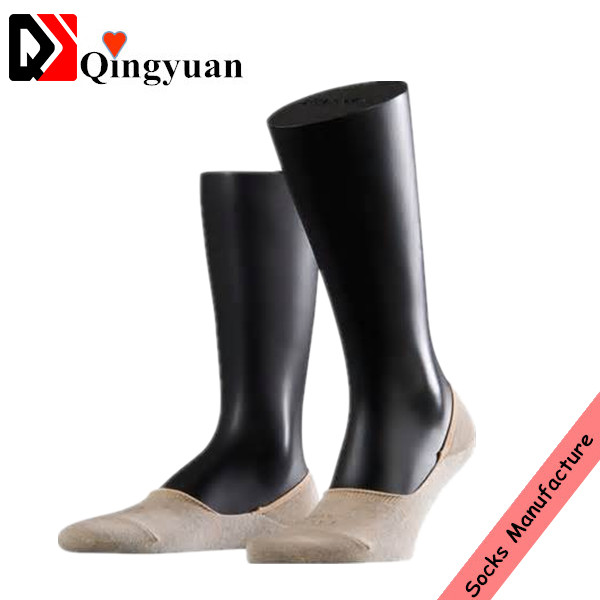 Custom men bamboo skin color invisible socks