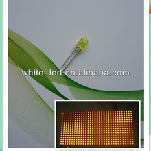 5mm 3mm 590nm oval amber yellow orange diffused led diode