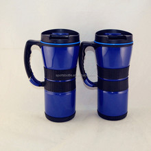 factory made pp material 500ml coffee mug/travel mug with handle