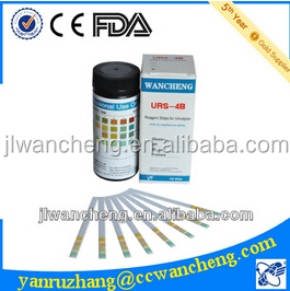 diagnostic urine blood glucose test strips URS-4B FDA, CE,