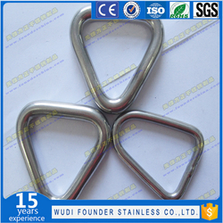 stainless steel triangle ring 5m-8mm rigging hardware