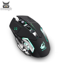 Cool Dpi adjustable 2.4 HZ <strong>USB</strong> rechargeable gaming <strong>mouse</strong> <strong>wireless</strong> with 7 color changeable