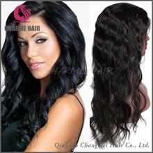 7A stock wavy style 100 remy hair wholesale cheap human hair full lace wig for black women