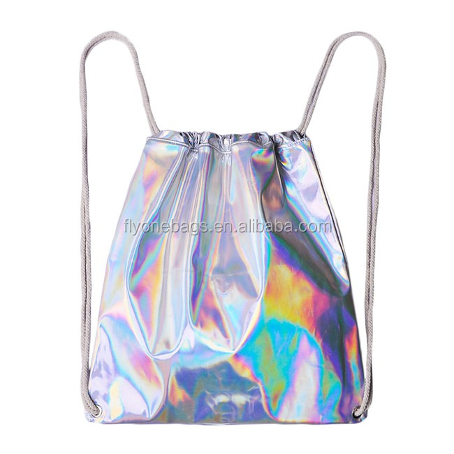 Fashion Silver Leather Dance Drawstring Bag - Buy Cheap Drawstring ...