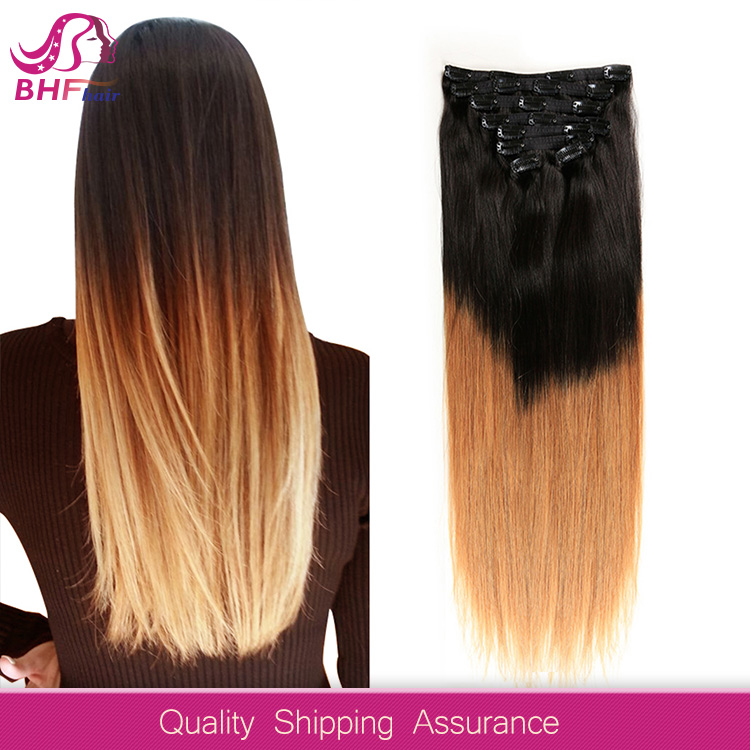 top quality style full head clip in braided extensions hair