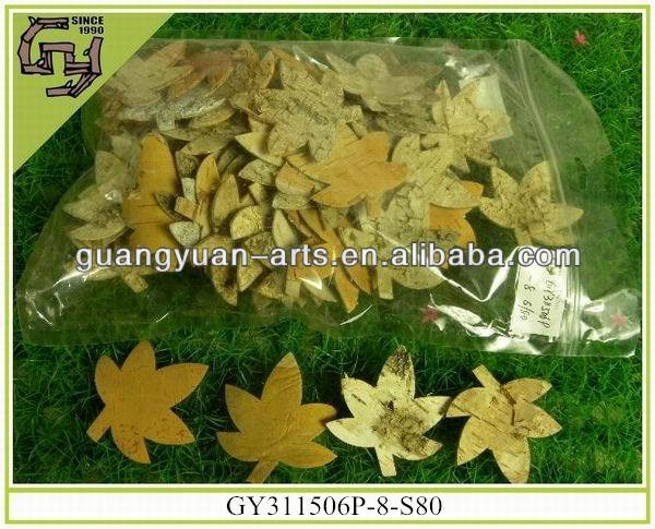 Natural Material Birch Bark Leaf for Holiday/Home Adornments