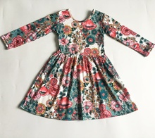 Dropshipping New Summer Custom <strong>Dresses</strong> Baby Kids Clothing <strong>Girls</strong> Clothes Tropical Green Flower Child <strong>Dress</strong>