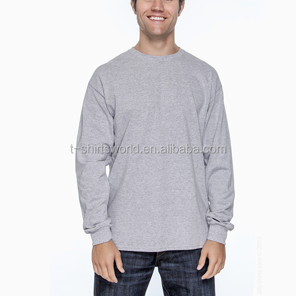 fitness customized 100 cotton long sleeve t shirt