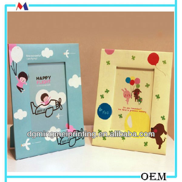 creative 5 inch cartoon DIY paper photo frame