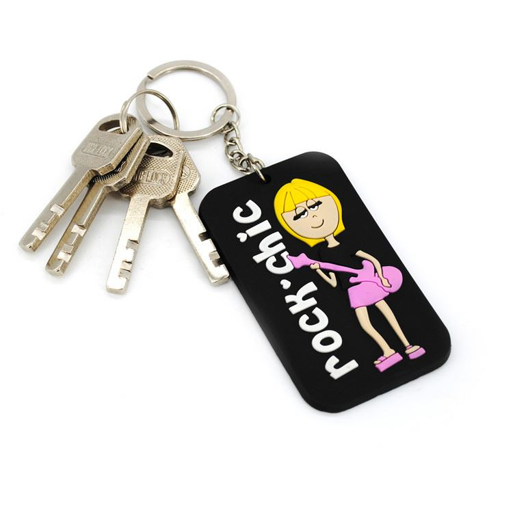 New selling simple design cartoon 3d pvc keychain with good prices