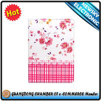 new arrive For ipad6 ipad air 2 floral print folio standing tablet case