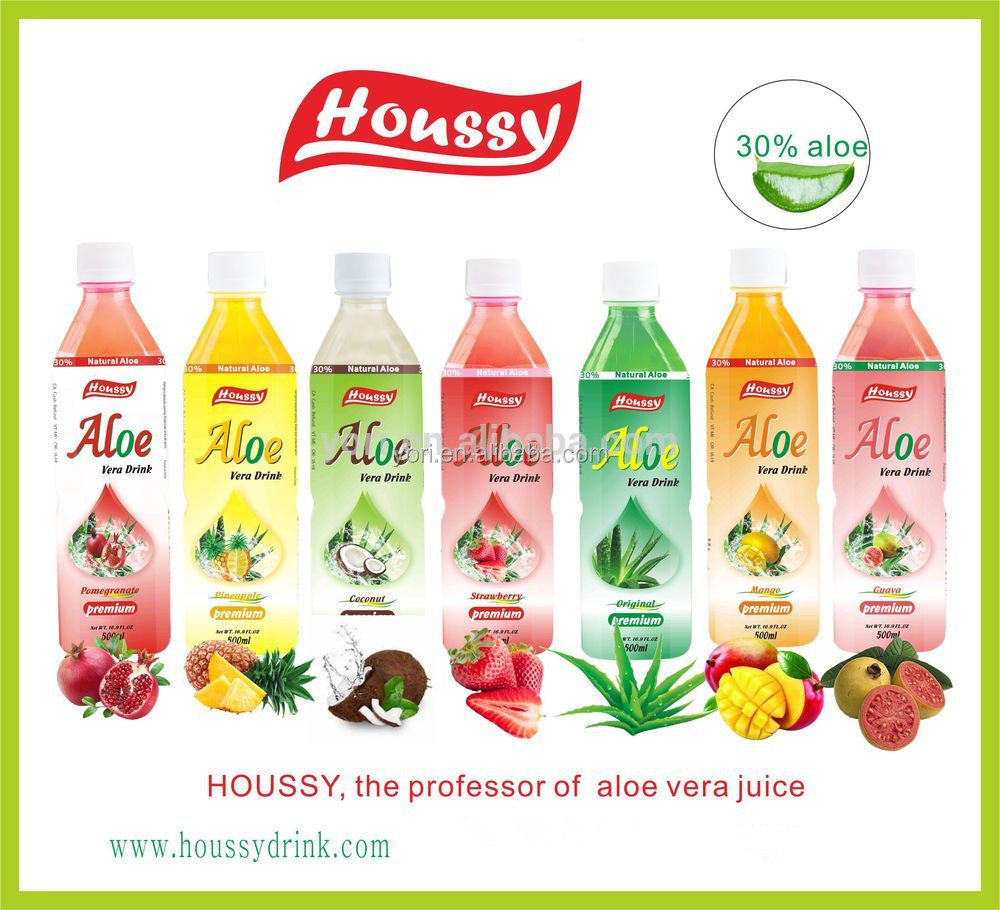 houssy best-selling seven different fruits flavors aloe juice