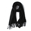 Large Wool cashmere Scarf Black Wool Scarf