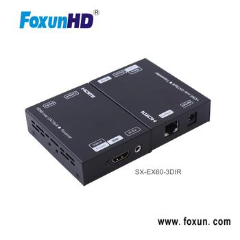 Foxun SX-EX60-3DIR 60m HDMI IR Extender use in cat5e cable UTP cable RJ45 cable
