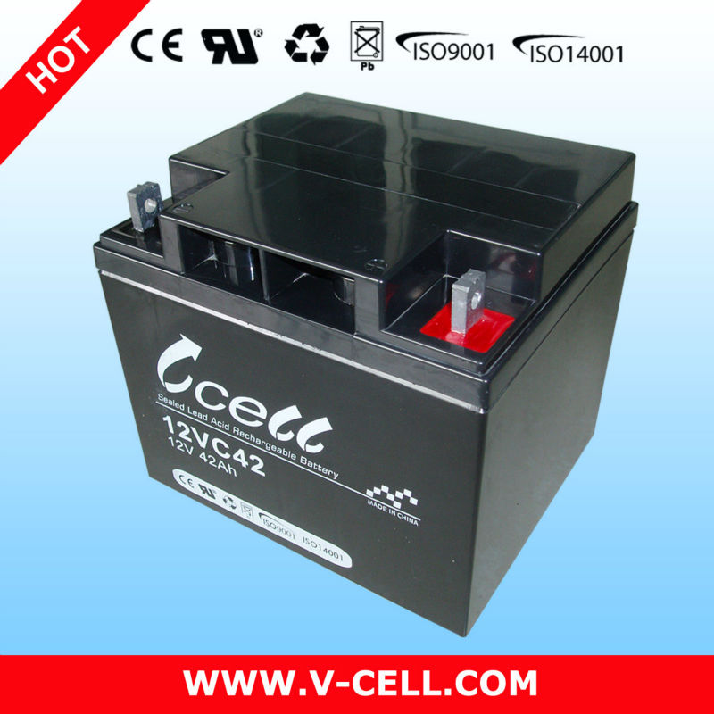 12V 42Ah maintenance free battery