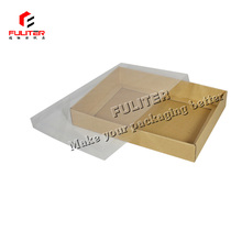 The brown kraft paper cardboard gift boxes clear lid