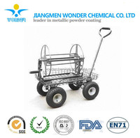 metallic like silver /aluminum color powder coating for iron wheelbarrow