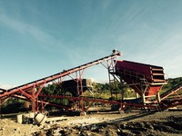 Sand gravel mobile belt conveyor and slime block conveyor belting for sale in India