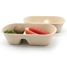 Eco Friendly Safety Bamboo Pulp Packaging Box Disposable Microwavable Containers