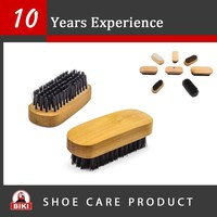 Pig Hair wooden shoe brush manufacture