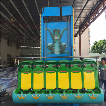 Carton fair big discount price frog hopper ride mini sky drop tower amusement frog jumping ride