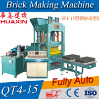 Fully Automatic QT4-15 cement brick making machine price in india