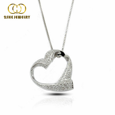 Fashion jewelry Love heart pendant <strong>silver</strong>