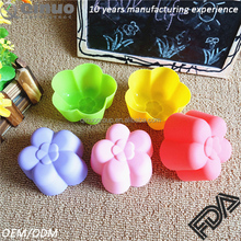 Free shipping 5cm diameter plvmeria cake mold 6 cavities FDA silicone pudding jelly mould