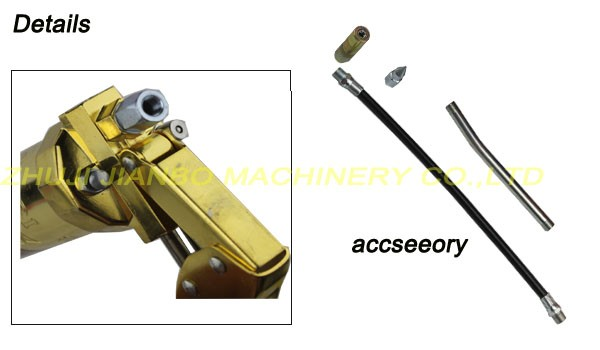 Double-bar High Pressure 900CC Manual Grease Gun