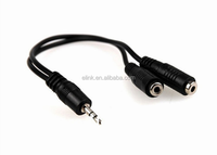 3.5mm Audio Stereo Y Splitter Cable 3.5mm Male to 2 Port for Earphone and Headset Splitter Adapter