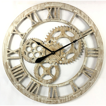 French design clocks giant clock wall retro gear wall clock