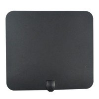 360 Degree Rotating HDTV Super Thin Digital Indoor TV Antenna 35 Miles Indoor UHF/VHF