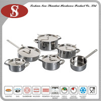 New products cookware set stainless steel tri-ply