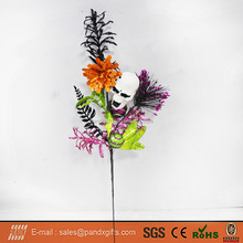 Halloween Plastic Colorful Flower Tree Branch for Indoor Decoration