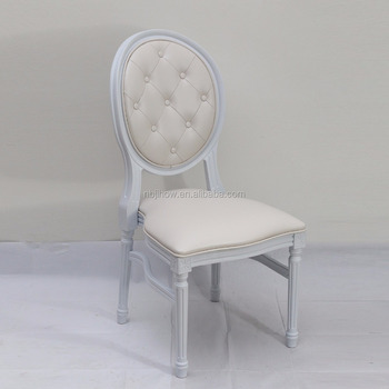 Hot Sale Resin White Wedding Chairs for Decoration