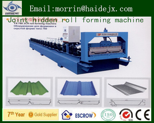 High quality! Joint Hidden color steel Roll Forming Machine/folding tamping machine