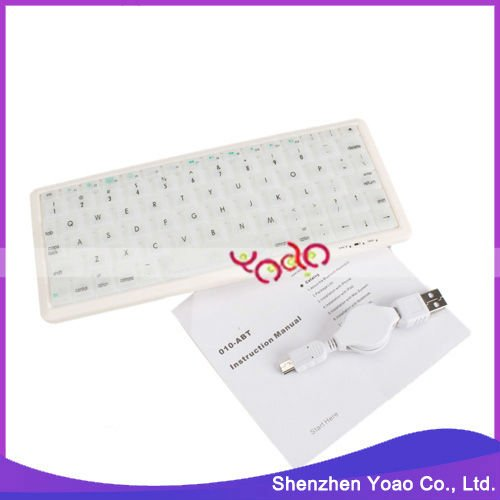 78-Keys White Wireless Bluetooth Keyboard