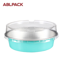 Attractive round aluminum foil container with lids Embossed Liner Cake Circles Liners Gift Wrapping Papers