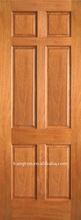Prefinished 6 Panel Mahogany Wood Doors with Raised Panel