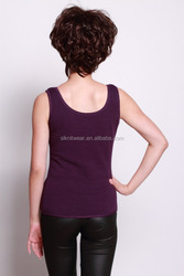 Ladies or girls basic scoop neck solid girls sexy tops
