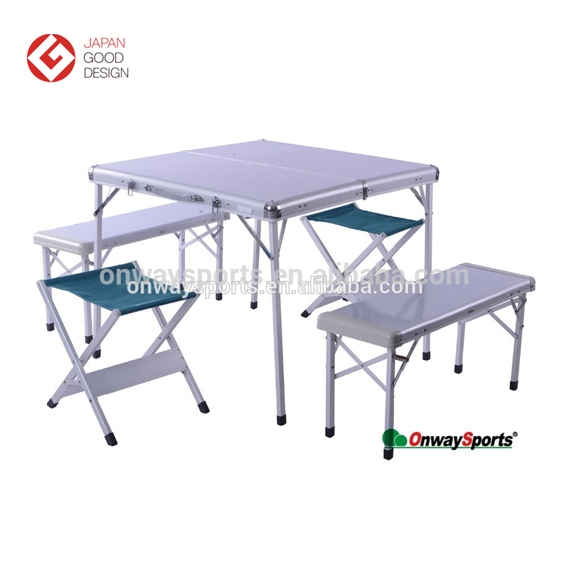 Lightweight easy carry portable aluminum folding camping table made in China