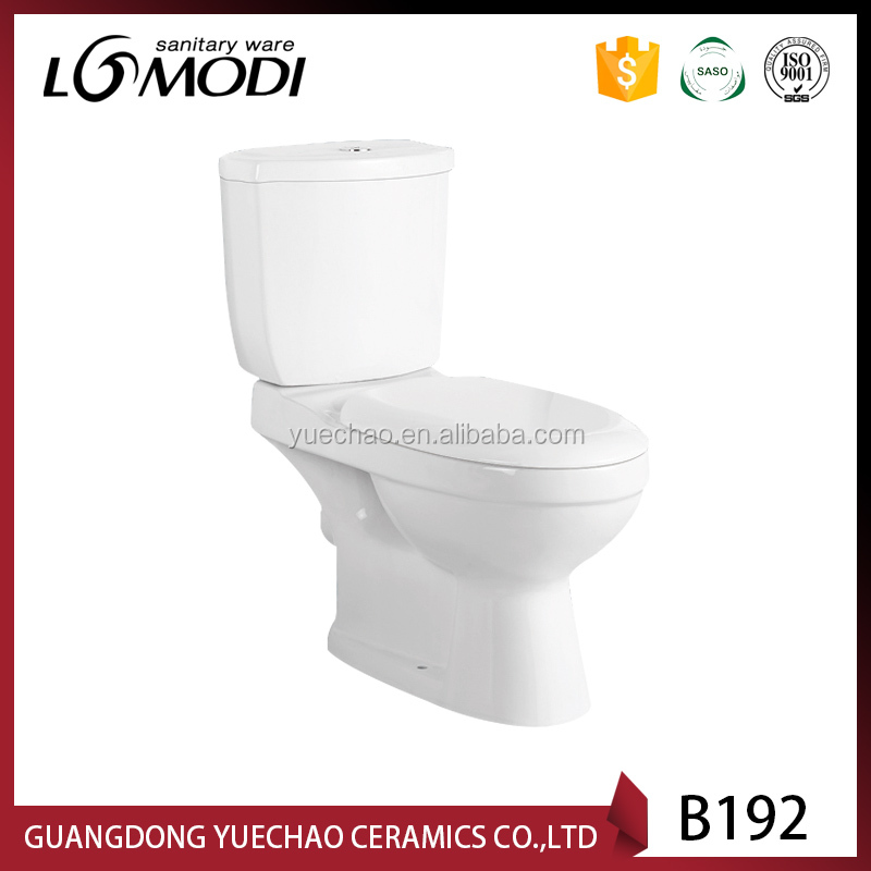 Two piece water save flush toilet bowl