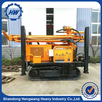 Hydraulic Crawler Drilling Rig 160m Water Well Rotary Drilling Machine