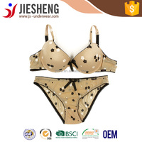 sexy girls silk fabric bra and panty set ladies bra lady underwear