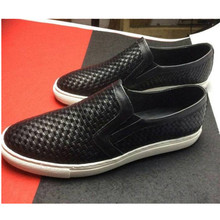 high quality 2017 men casual genuine leather braided shoes made in Guangzhou