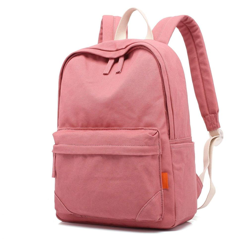 2019 Casual Lightweight Canvas Backpack School Bag Travel Daypack